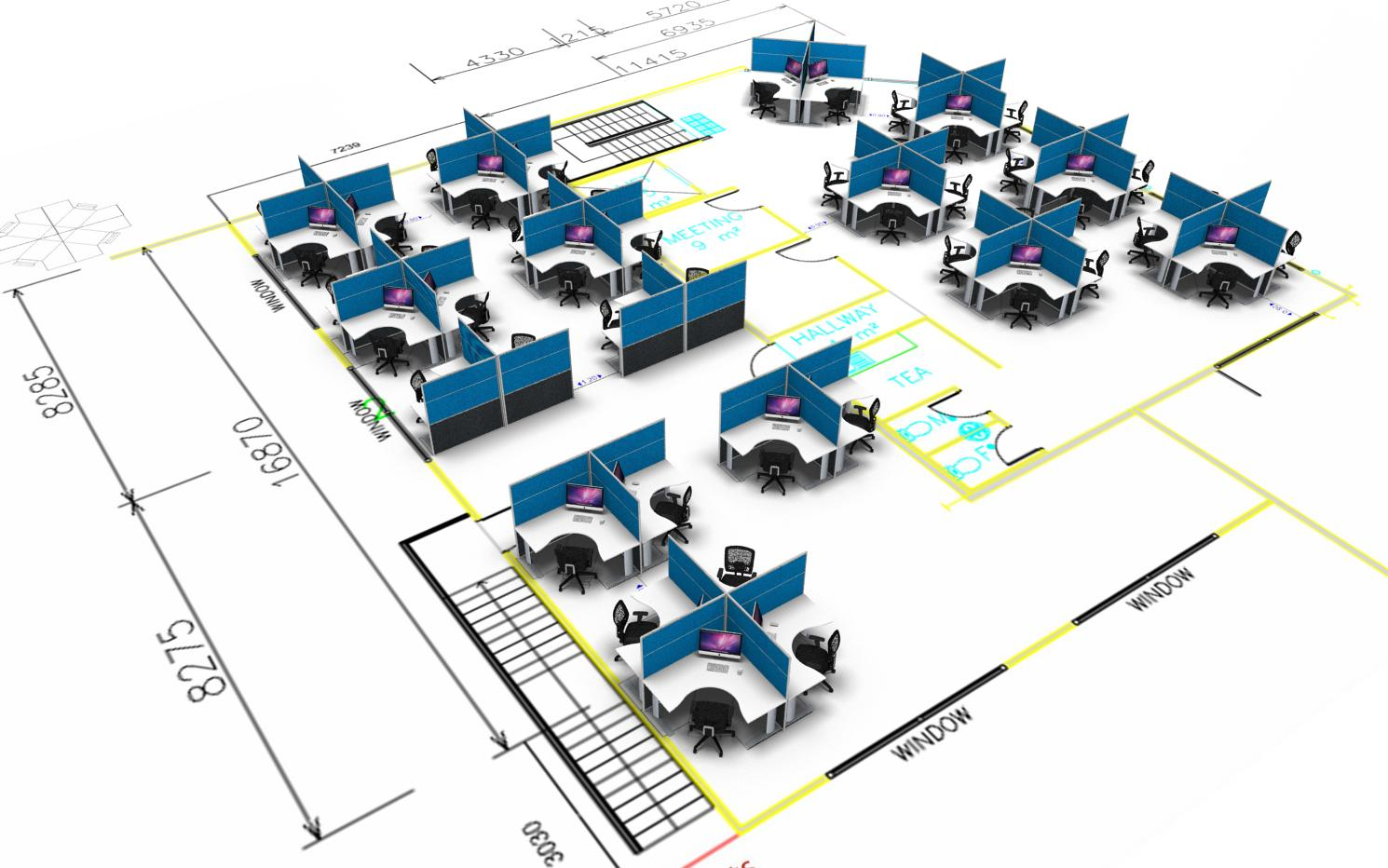 example of a concept design for office furniture