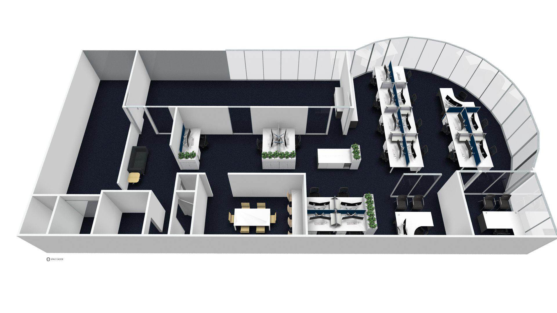 example of a 3D image of office fitout furniture